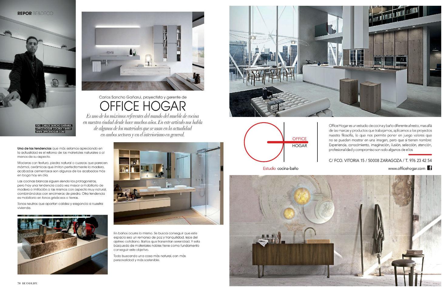 Office Hogar | ARTÍCULO REVISTA BEANDLIFE Nº88 POR CARLOS SANCHO